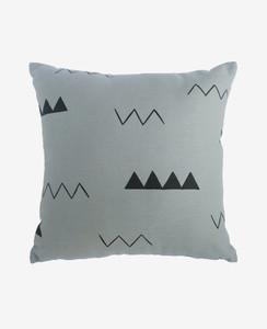 Smoke Grey Zig Zag Pillow