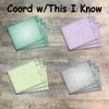 "Title Block Journaling Cards - 12 3x4 Cards in Colors to Match ""This I Know"" Kit"