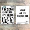 Cornerstone 6x8 Alpha Stamp Set - 46 Piece Stamp Set - ByTheWell4God