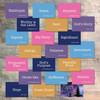 """Mini Flash Cards for In The Night Season - 20 2x3 Flash Cards in Colors to Match """"In The Night Season"""" Kit"""
