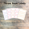 """Throne Room Labels - 5 Sheets of Label Stickers from BTW4G- Inspired by """"A Glimpse of Heaven"""""""