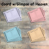 """Book of Life Journaling Cards - 12 3x4 Cards in Colors to Match """"A Glimpse of Heaven"""" Kit"""
