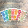"""Meditate Clear Stickers - 7 Sheets of Clear Stickers, Inspired by """"Grow in Grace"""" - For the margins of your Bible!"""