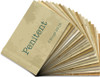 """Vintage Design Mini Flash Cards for Famous Last Words - 20 2x3 Flash Cards in Colors to Match """"Famous Last Words"""" Kit"""