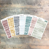 """Reverence Clear Stickers - 7 Sheets of Clear Stickers, Inspired by """"Fear the Lord"""" - For the margins of your Bible!"""