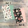 Handcrafted - Blank Journal Set  - Pair of Custom Travelers Notebook Inserts - 2 Notebook Inserts - Inserts for Dori