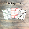 """Stitching Labels - 5 Sheets of Label Stickers from BTW4G- Inspired by """"Handcrafted"""""""
