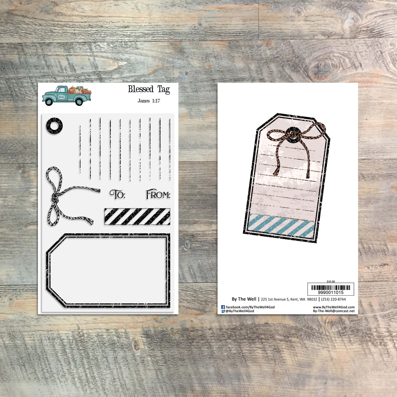 Blessed Tag - 7 Piece Stamp Set - ByTheWell4God