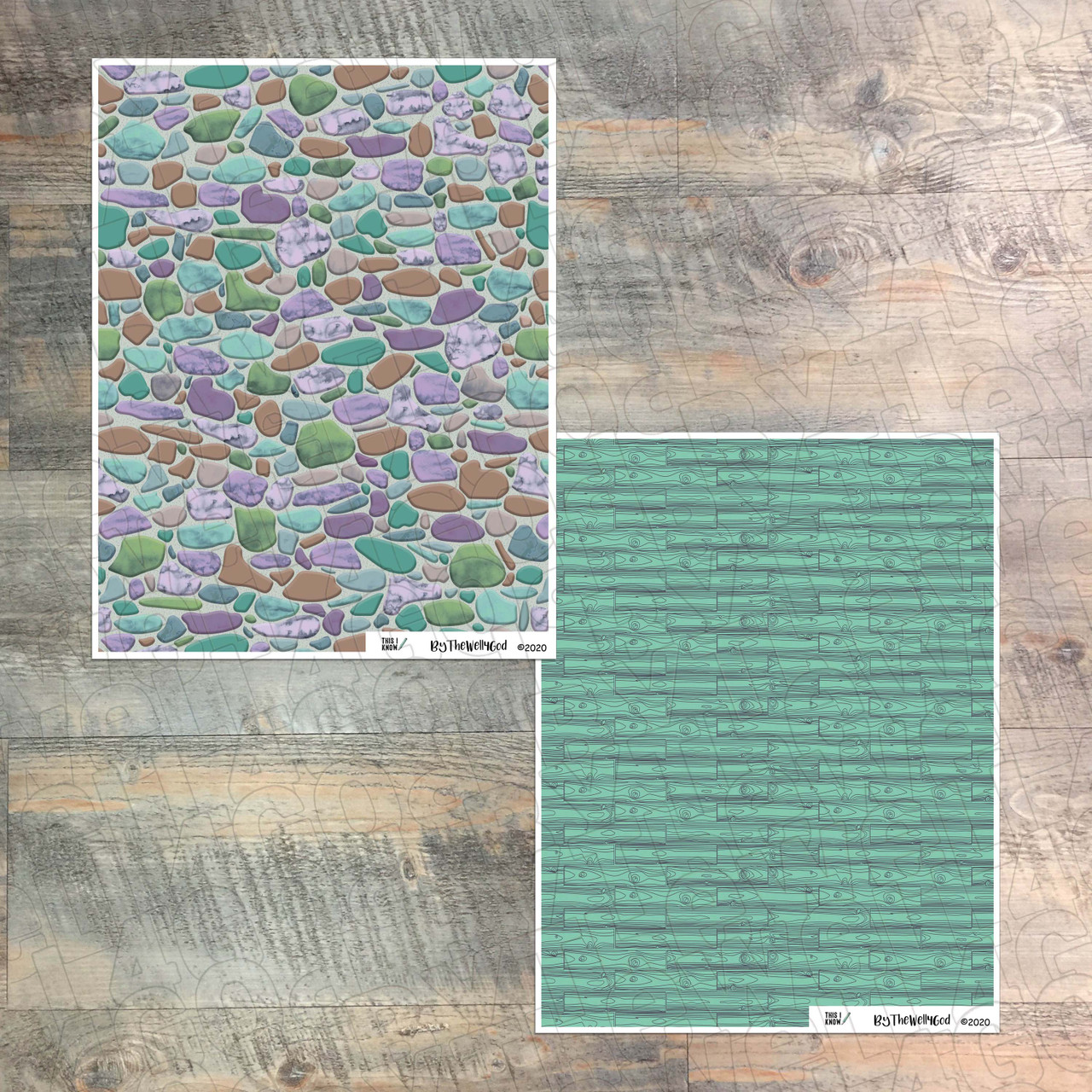 """Digital Paper Collection for """"This I Know"""" Devotional Kit - 8 Sheets of Coordinating Papers"""