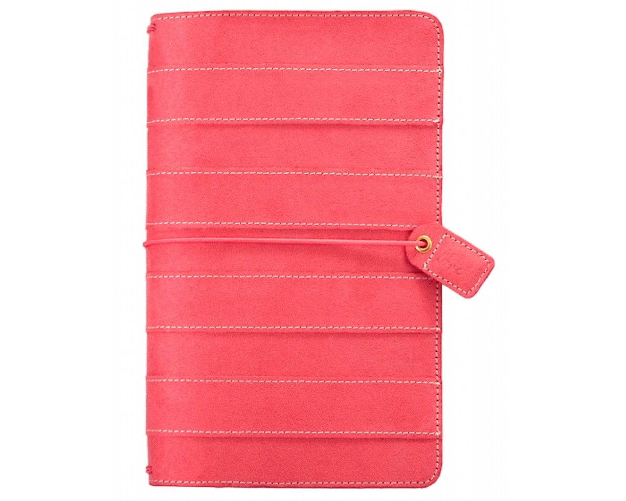 Travelers Notebook - Webster's Pages - Pink Stitched Stripe Dori - Journal your thoughts for Bible Journalling!