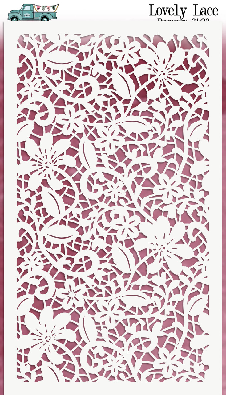 "Lovely Lace - Custom stencil to coordinate with ""Our First Love"" - ByTheWell4God"
