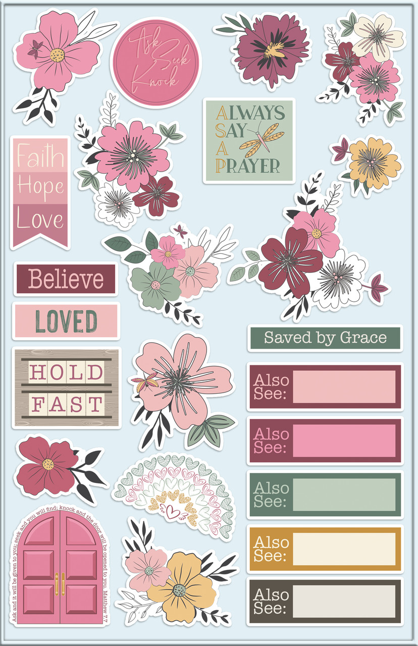"Love Blooms - Cardstock Ephemera - Die-Cuts 24/Pkg - Coordinates with ""Our First Love"""
