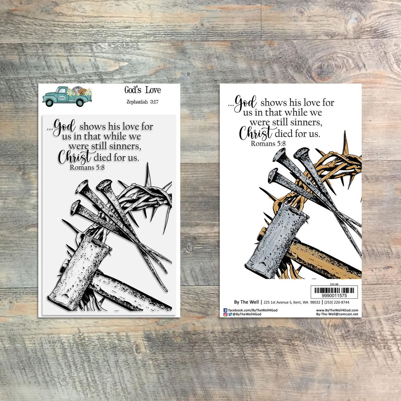 God's Love - 2 Piece Stamp Set - ByTheWell4God