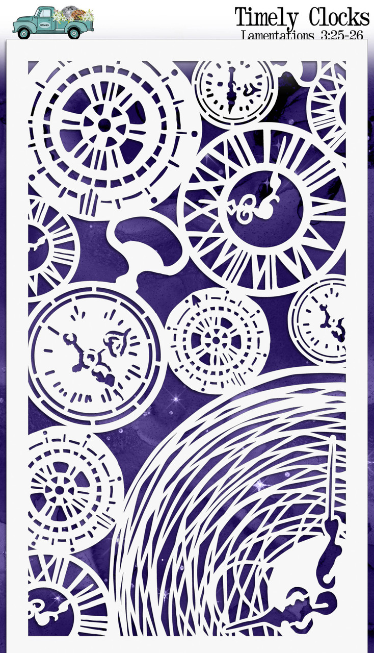 """Timely Clocks - Custom stencil to coordinate with """"In the Night Season"""" - ByTheWell4God"""