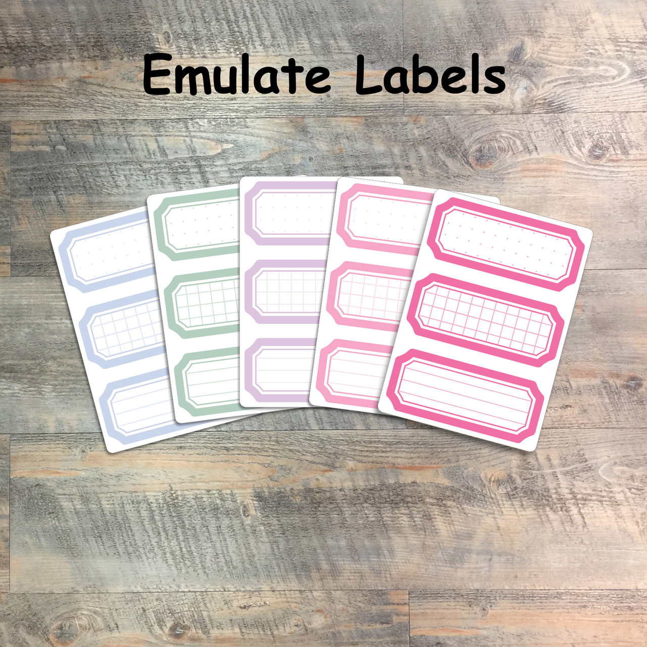"""Emulate Labels - 5 Sheets of Label Stickers from BTW4G- Inspired by """"Walk This Way"""""""
