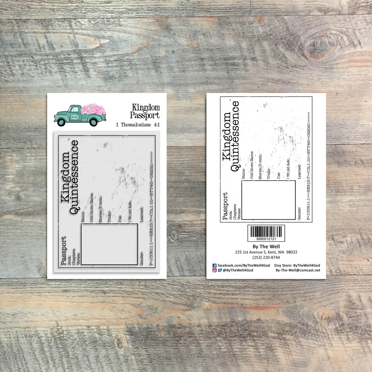 Kingdom Passport - 1 Piece 3x4 Stamp Set