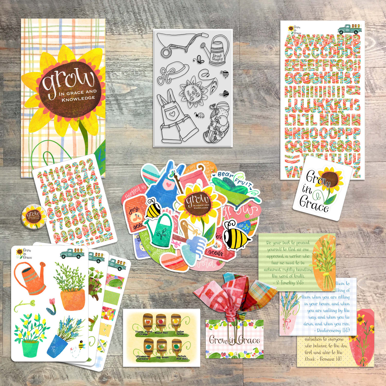 Grow in Grace, by Christina Lowery - Devotional Kit for Bible Journaling