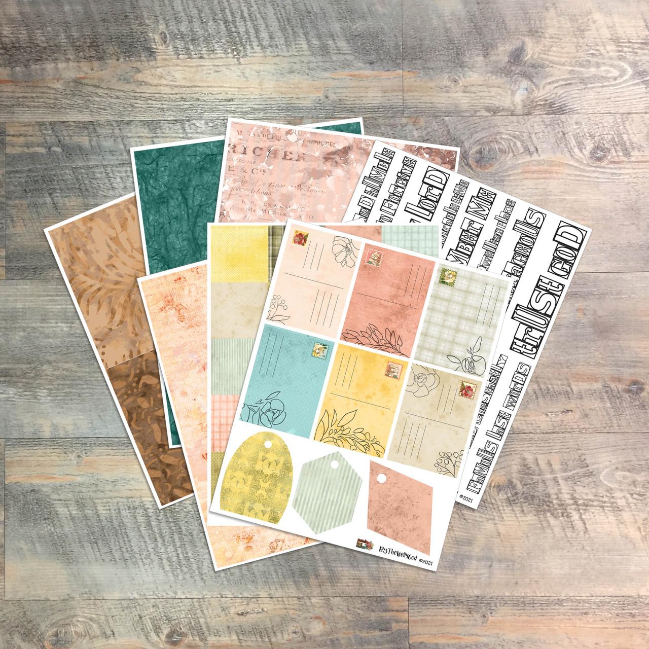 "Digital Paper Collection for ""Famous Last Words"" Devotional Kit"