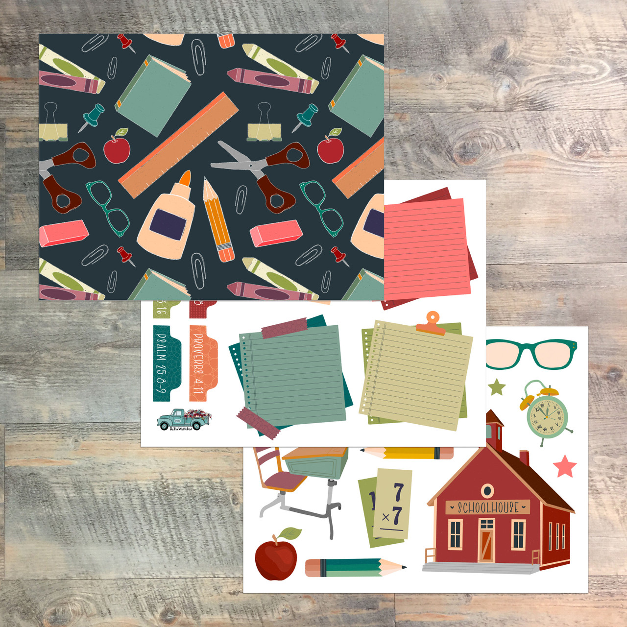 The Instructed Way - Digital Ephemera Download - Back to School - Created by Laura Osterman