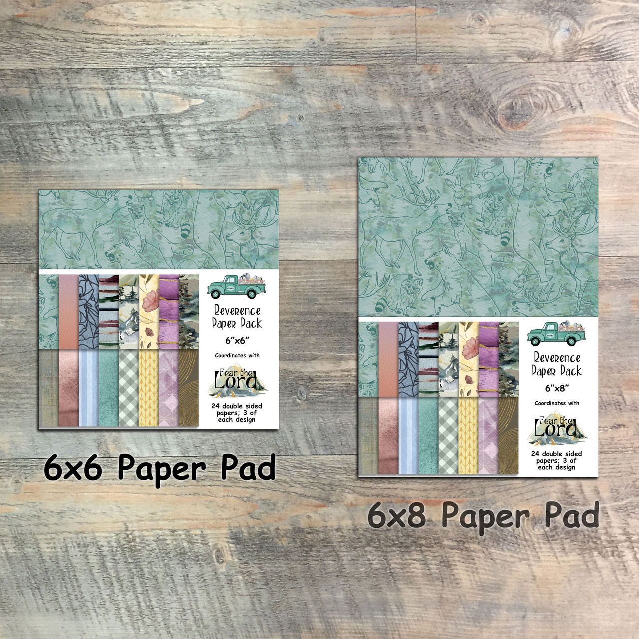Fear the Lord - Reverence Paper Collection - 24 Double Sided 6x6 or 6x8 Papers
