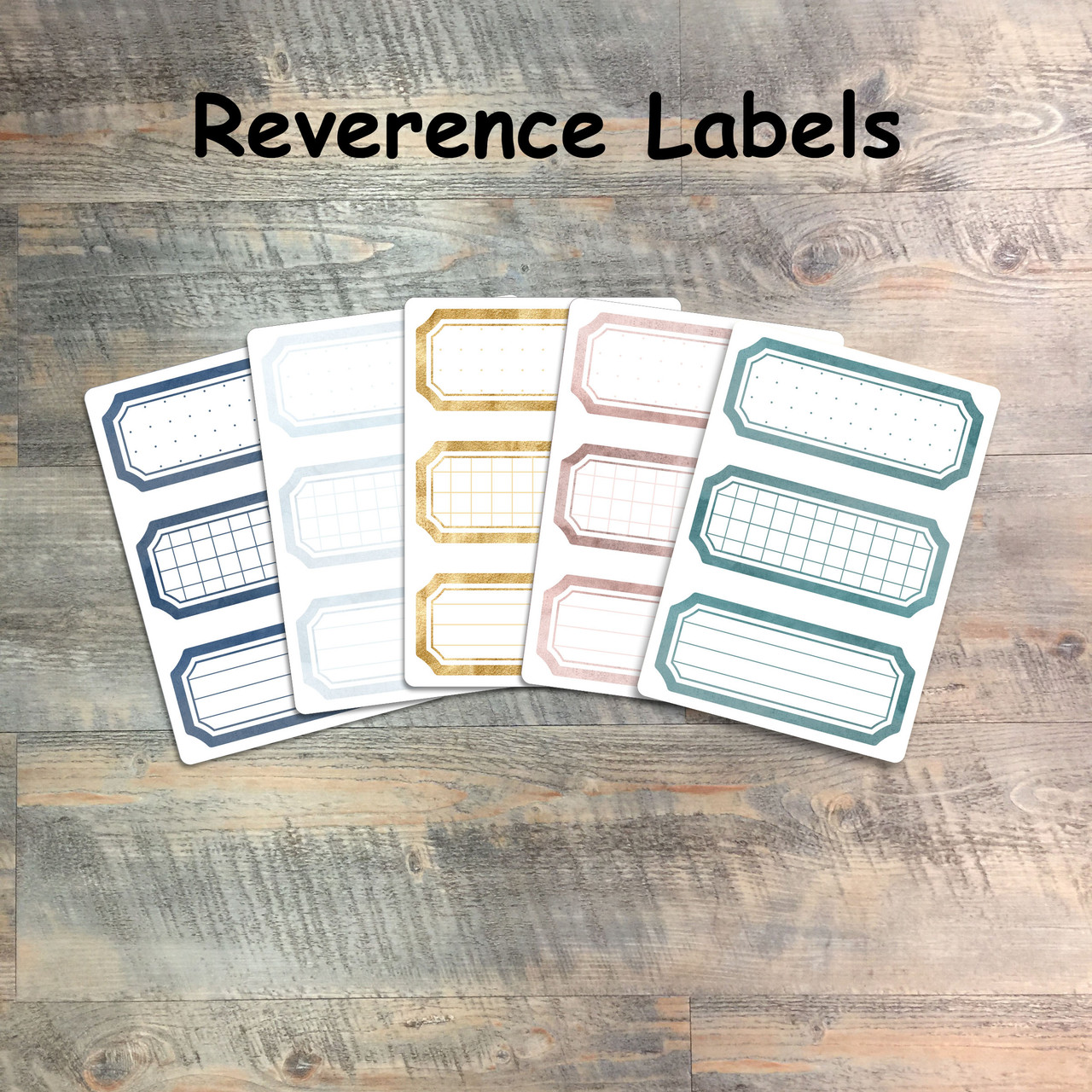 """Reverence Labels - 5 Sheets of Label Stickers from BTW4G- Inspired by """"Fear the Lord"""""""