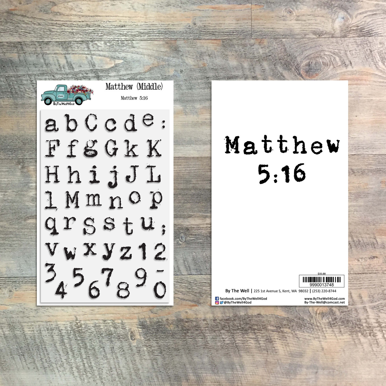 Matthew (Middle) Alpha Stamp Set
