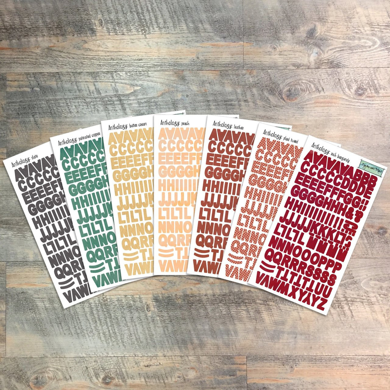 """Anthology - Clear Stickers - 7 Sheets of Clear Stickers, Inspired by """"Cataloging the Connections"""" - Perfect for the margins of your bible"""