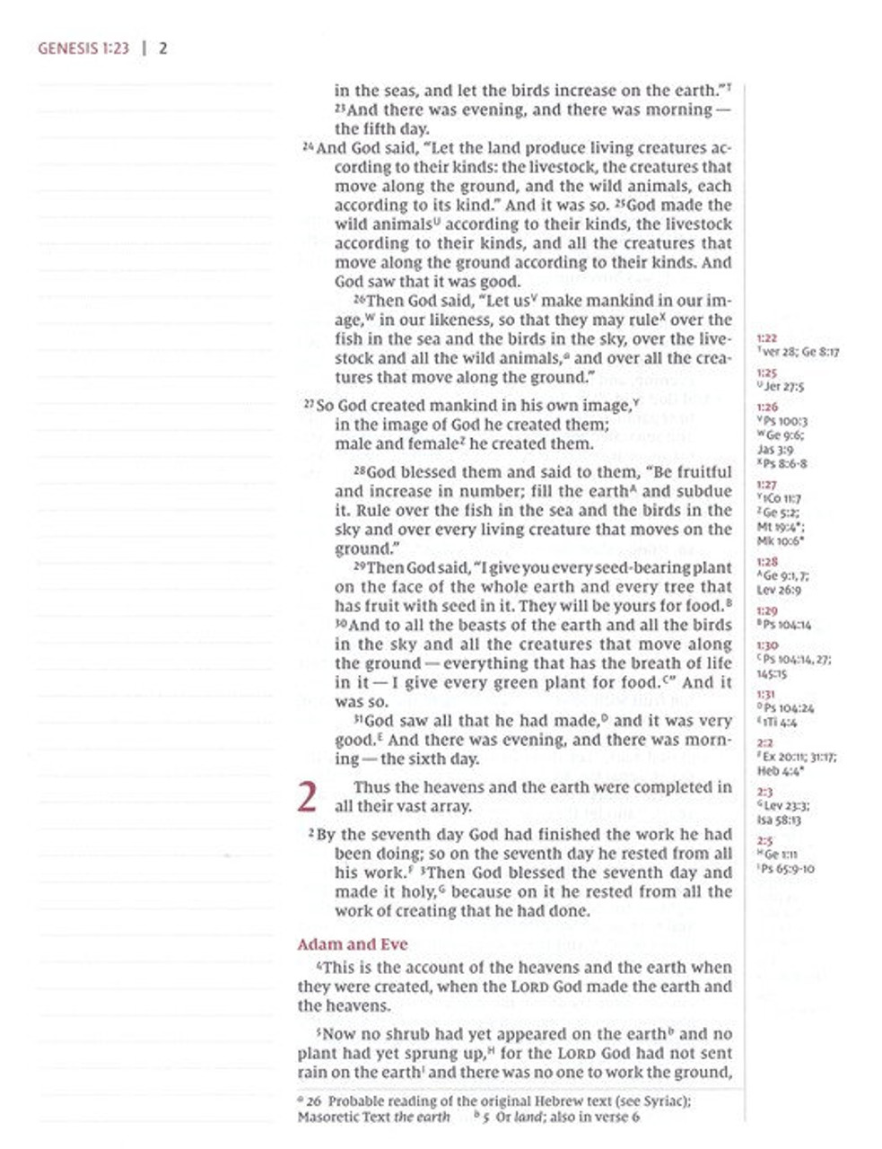 NIV, Journal the Word Reference Bible, Imitation Leather, Brown/Tan, Red Letter Edition: Let Scripture Explain Scripture.