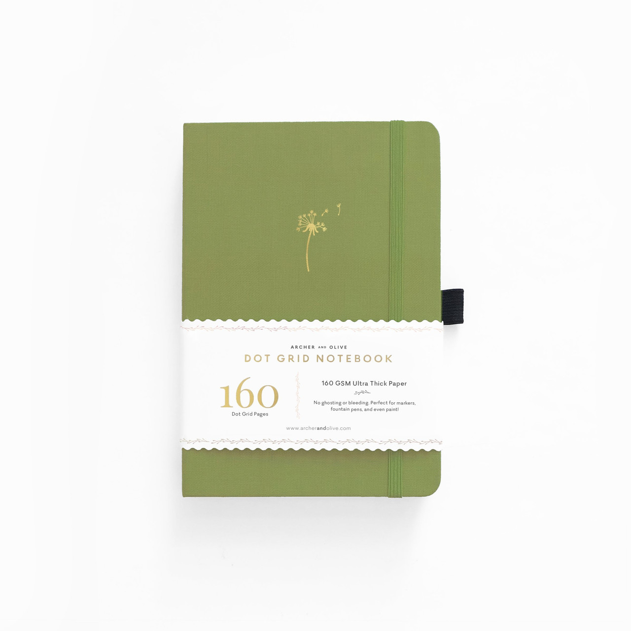 A5 Dandelion Dreams Dot Grid Notebook by Archer & Olive