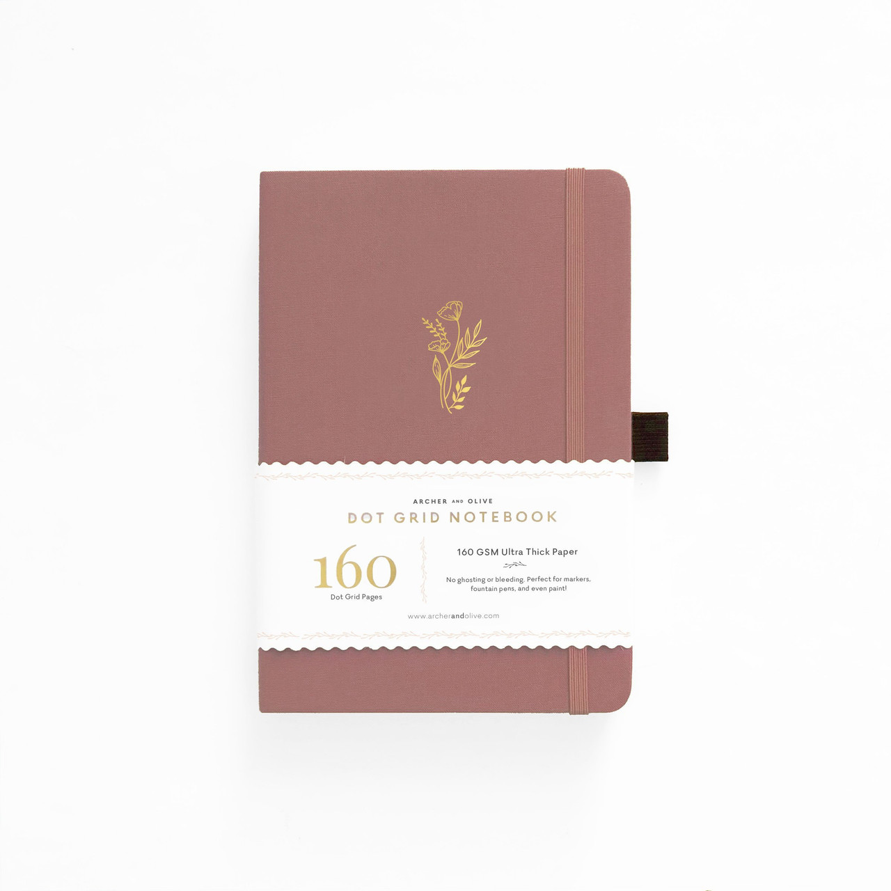 A5 Floral Sunset Dot Grid Notebook by Archer & Olive