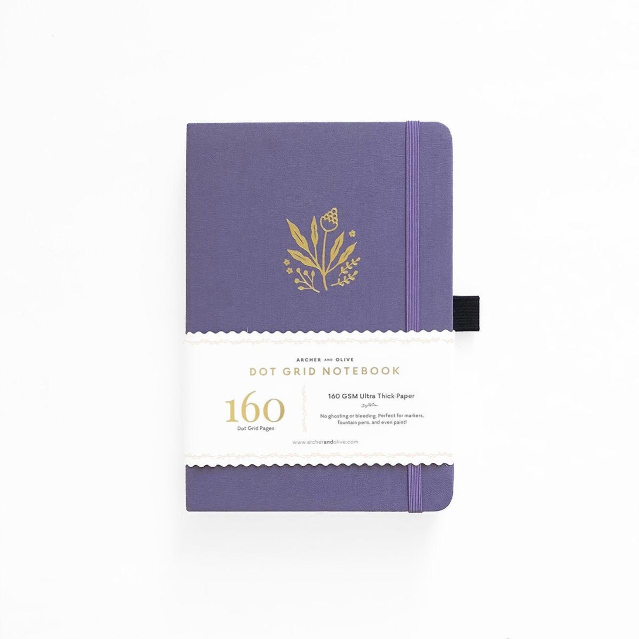 A5 Floral Details Dot Grid Notebook by Archer & Olive