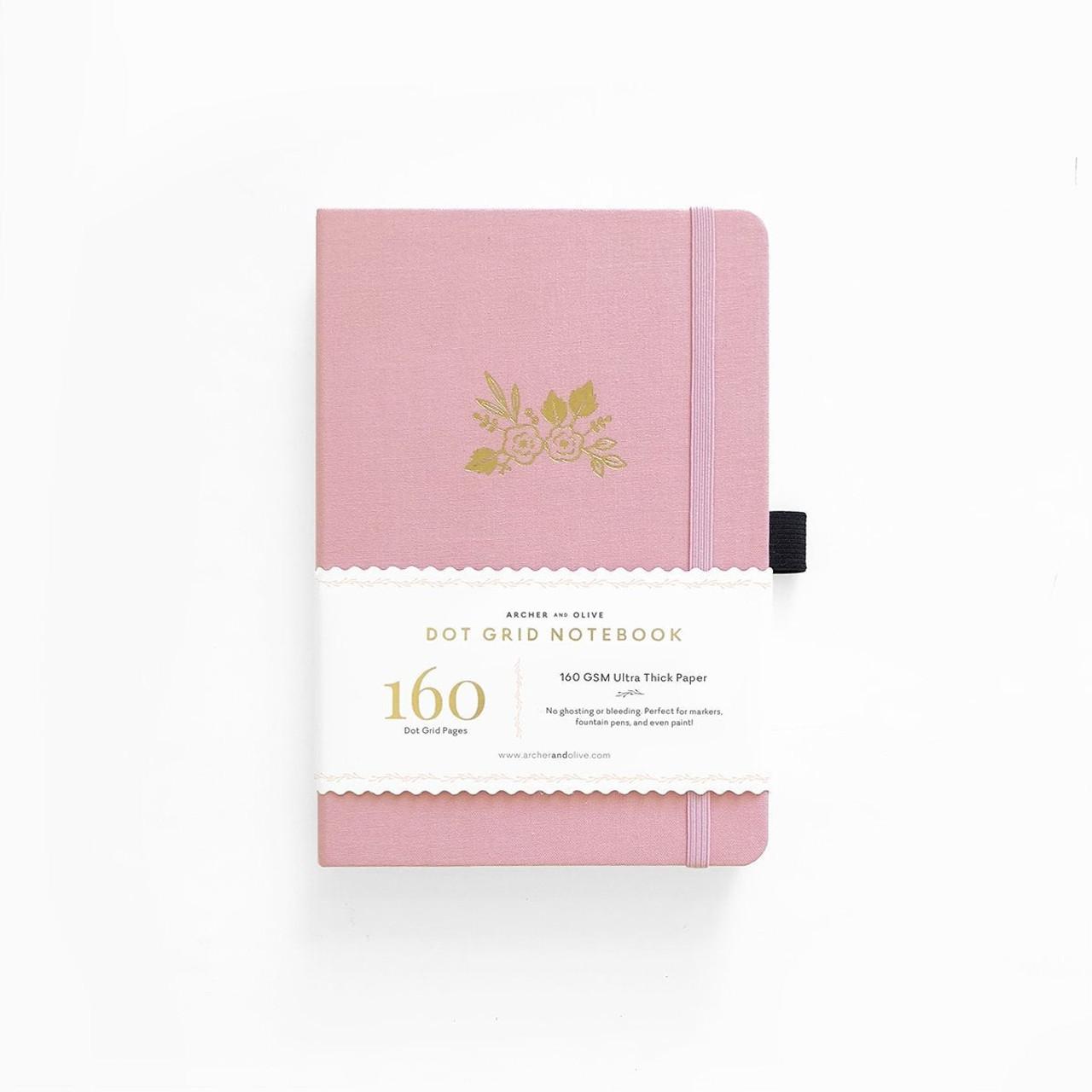 A5 Light Pink Dot Grid Notebook by Archer & Olive