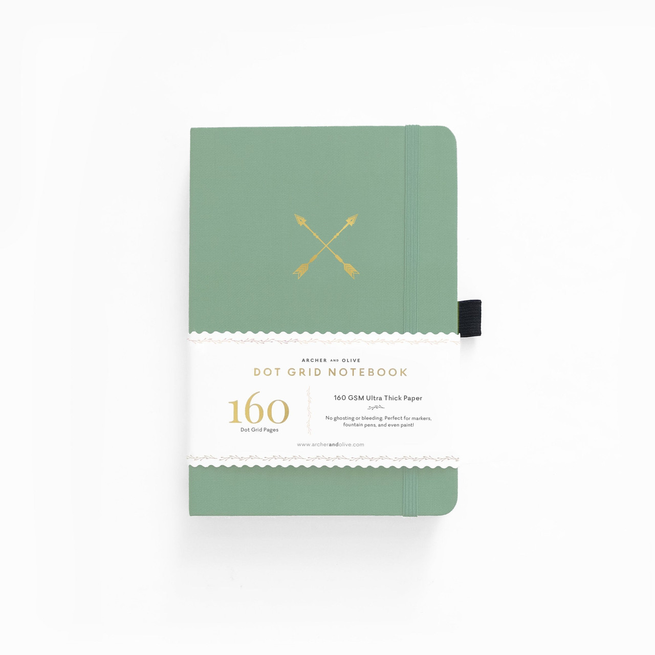 A5 Twin Arrows Dot Grid Notebook by Archer & Olive
