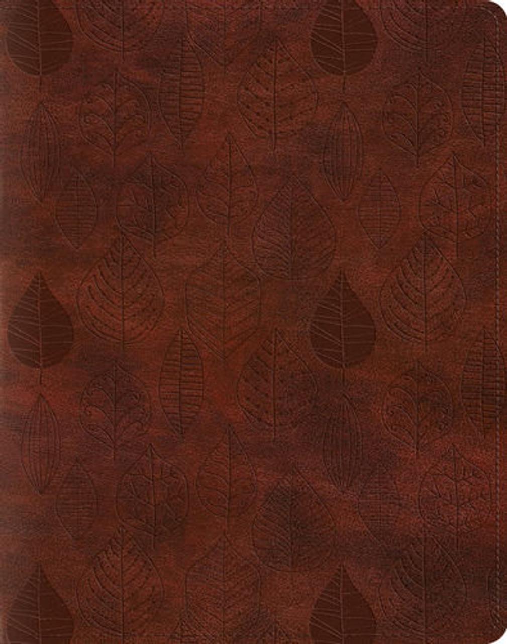 Leaves Design, ESV Single Column Journaling Bible (TruTone, Chestnut), Bible Journaling, for Bible Journaling
