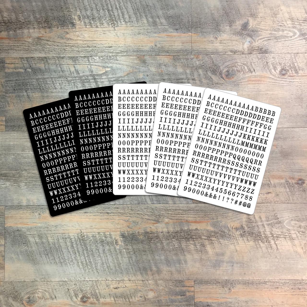 BTW4G Salt & Pepper Tile Alpha Stickers