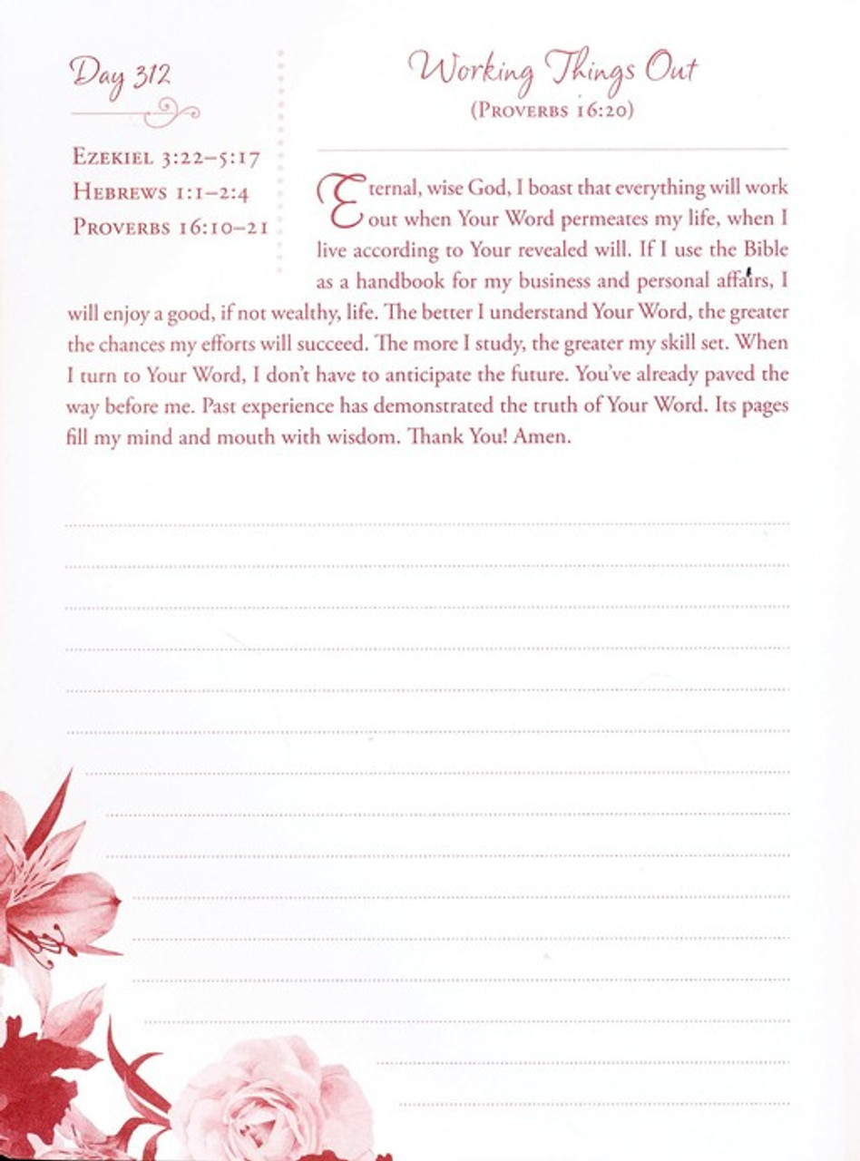 Pray through the Bible in a Year Journal: A Daily Devotional and Reading Plan, by Darlene Franklin