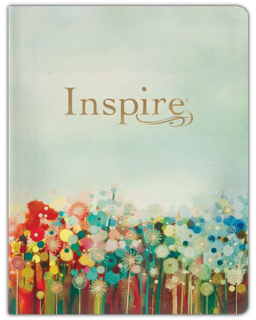 NLT Large-Print Inspire Bible: The Bible for Coloring & Creative Journaling - Imitation Leather