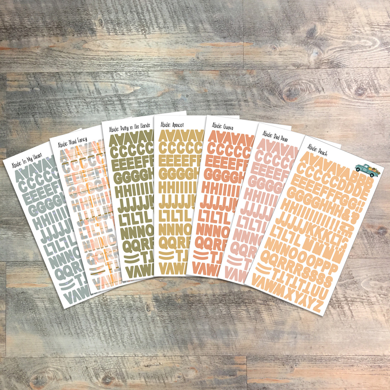 """Abide Clear Stickers - 7 Sheets of Clear Stickers, Inspired by """"Worthy of the Gospel"""" - For the margins of your Bible!"""