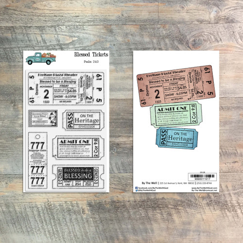 Blessed Tickets - 6 Piece Stamp Set - ByTheWell4God