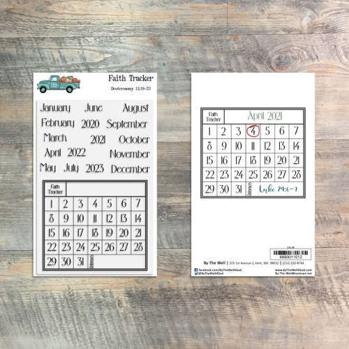 Faith Tracker - 17 Piece Stamp Set - ByTheWell4God
