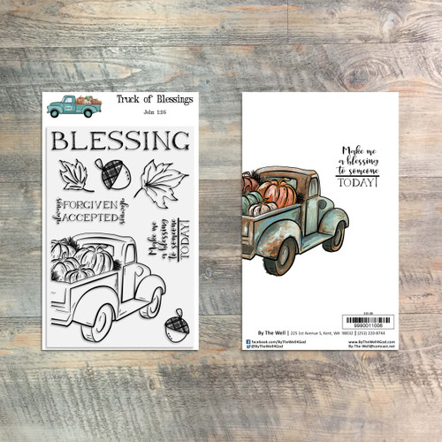 Truck of Blessing - 8 Piece Stamp Set - ByTheWell4God