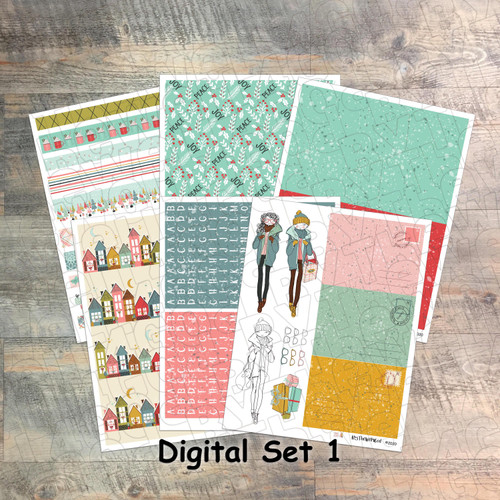 "Set 1: Digital Paper Collection for ""25 Gifts of Love"" Devotional Kit"