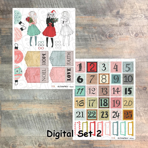 "Set 2: Digital Paper Collection for ""25 Gifts of Love"" Devotional Kit"