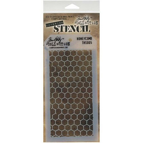 Honeycomb Layering Stencil - Stampers Anonymous - Tim Holtz- Great for backgrounds!