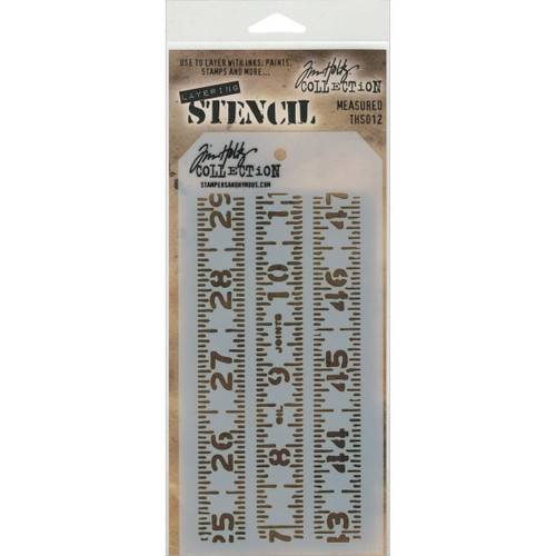 Measured Layering Stencil - Stampers Anonymous - Tim Holtz- Great for backgrounds!