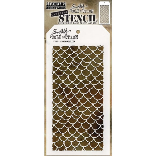 Scales Layering Stencil - Stampers Anonymous - Tim Holtz- Great for backgrounds!