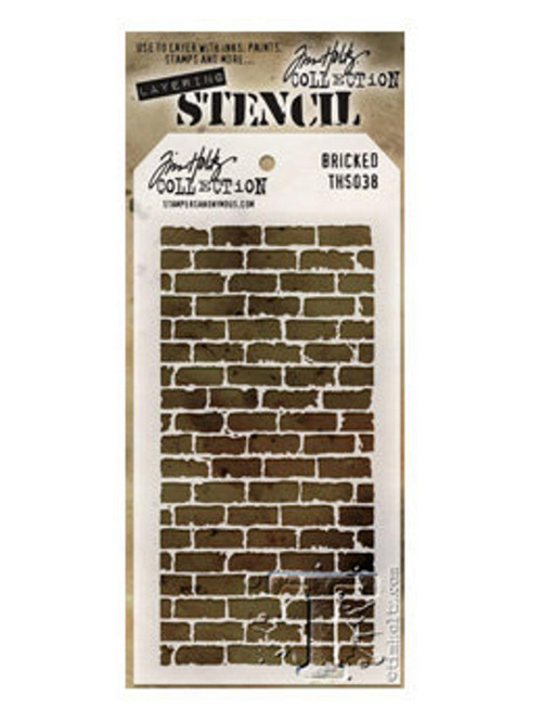 Bricked Layering Stencil - Stampers Anonymous - Tim Holtz- Great for backgrounds!