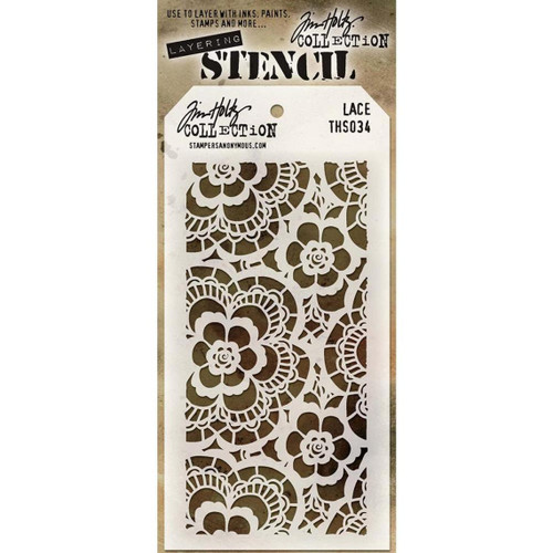 Lace Layering Stencil - Stampers Anonymous - Tim Holtz- Great for backgrounds!