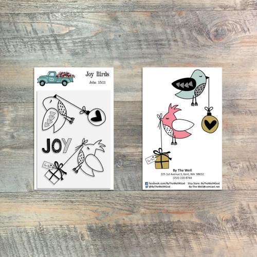 Joy Birds - 3 Piece 3x4 Stamp Set