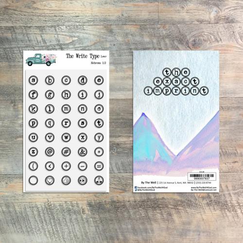 The Write Type - Lower - Stamp Set - 40 Piece Stamp Set